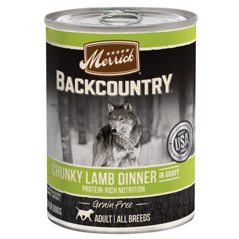 Merrick Backcountry Chunky Lamb in Gravy Grain Free Wet Dog Food