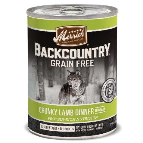 Merrick Backcountry Chunky Lamb in Gravy Grain Free Wet Dog Food