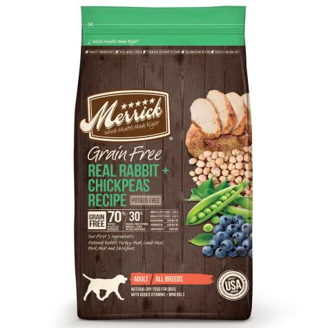 Merrick Grain Free Real Rabbit + Chickpeas Dry Dog Food