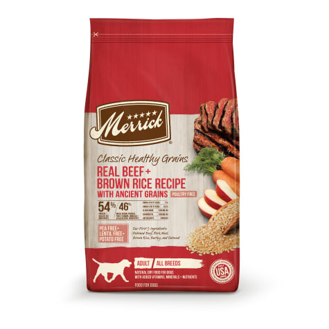 Merrick Classic Healthy Grains Beef+ Brown Rice Recipe with Ancient Grains Dry Dog Food