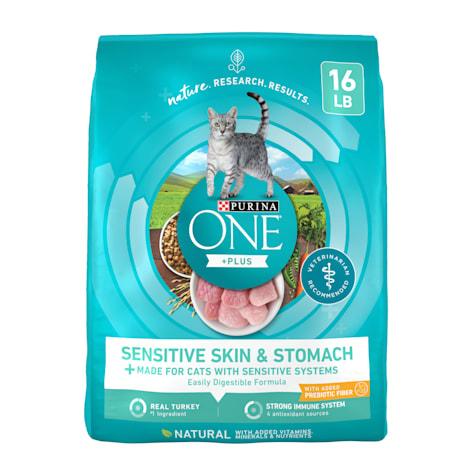 Purina ONE Natural Sensitive Skin & Stomach Formula Dry Cat Food