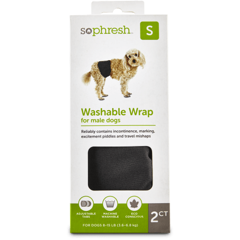 So Phresh Washable Wrap for Male Dogs 2pk