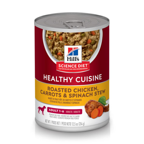 Hill's Science Diet Healthy Cuisine Adult Roasted Chicken Carrots & Spinach Canned Dog Food