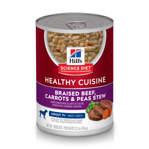 Hill's Science Diet Healthy Cuisine Adult 7+ Braised Beef, Carrots & Peas Stew Canned Dog Food