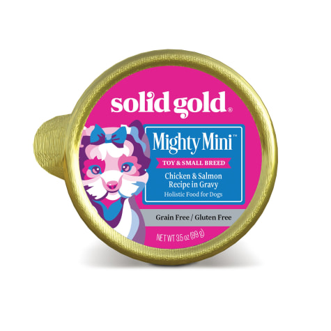 Solid Gold Mighty Mini Chicken & Salmon Grain and Gluten Free Wet Dog Food