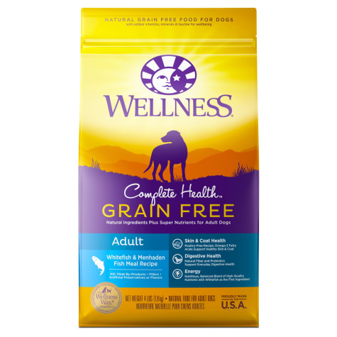 Wellness Complete Health Grain Free Adult Whitefish and Menhaden Fish Meal Recipe Dry Dog Food