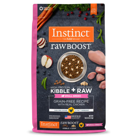 Instinct Raw Boost Small Breed Grain-Free Recipe with Real Chicken Dry Dog Food with Freeze-Dried Raw Pieces