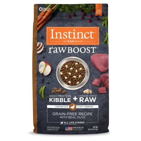 Instinct Raw Boost Grain-Free Recipe with Real Duck Dry Dog Food with Freeze-Dried Raw Pieces