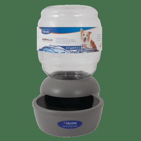 Petmate Replendish Gravity Waterer Grey Dog Bowl