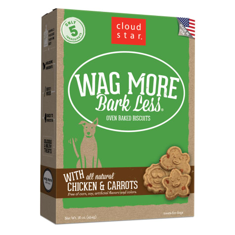Cloud Star Wag More Bark Less Oven Baked Chicken & Carrots Dog Treats
