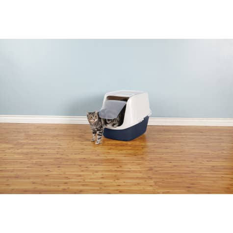 Royal Pet Incorporated Enclosed Litter Pan Giant Dark Blue//Charcoal