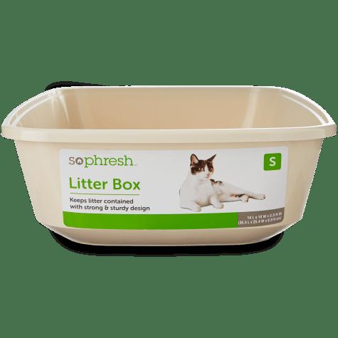 So Phresh Open Kitten Litter Box in Linen