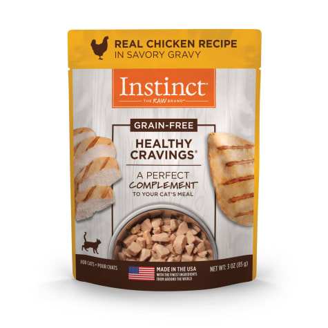Instinct Healthy Cravings Grain-Free Cuts & Gravy Real Chicken Recipe in Savory Gravy Wet Cat Food