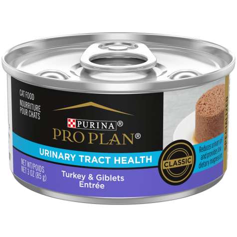 Purina Pro Plan Focus Urinary Tract Health Formula Turkey & Giblets Entree Pate Wet Cat Food.