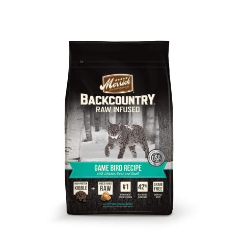 Merrick Backcountry Grain Free Raw Infused Game Bird Recipe Dry Cat Food