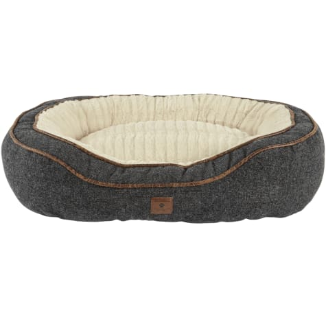 Harmony Grey Cuddler Memory Foam Dog Bed
