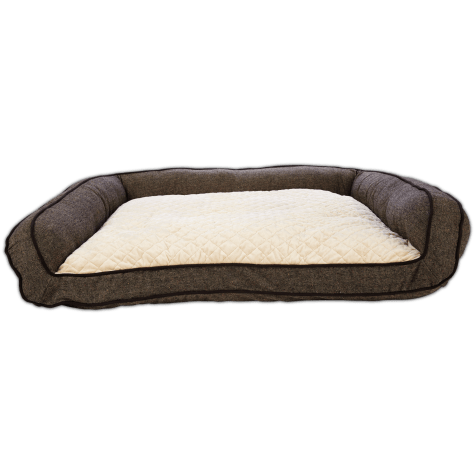 Harmony Memory Foam Couch Dog Bed in Brown