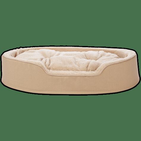Harmony Cuddler Orthopedic Dog Bed in Khaki
