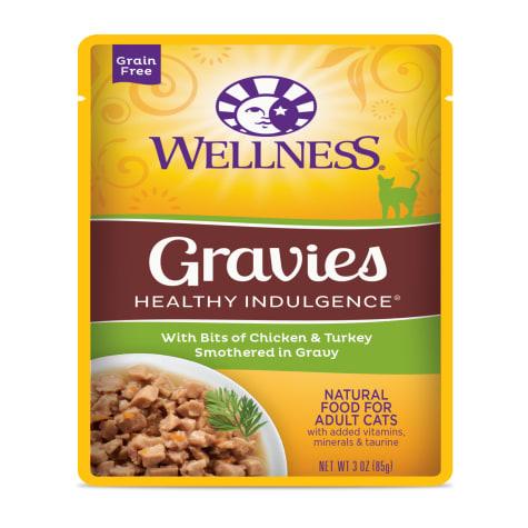 Wellness Healthy Indulgence Natural Grain Free Gravies with Chicken & Turkey in Gravy Wet Cat Food