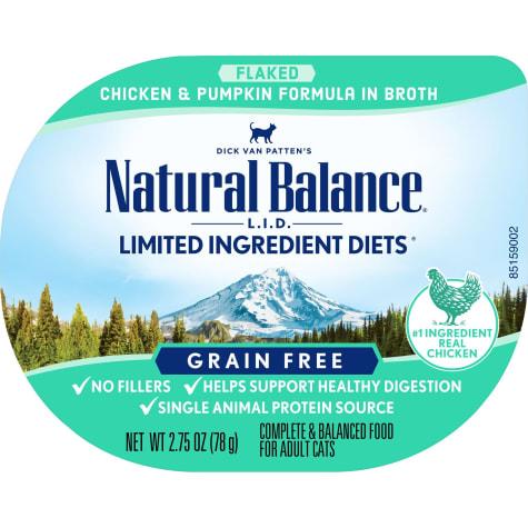 Natural Balance L.I.D. Limited Ingredient Diets Chicken & Pumpkin Formula in Broth Wet Cat Food