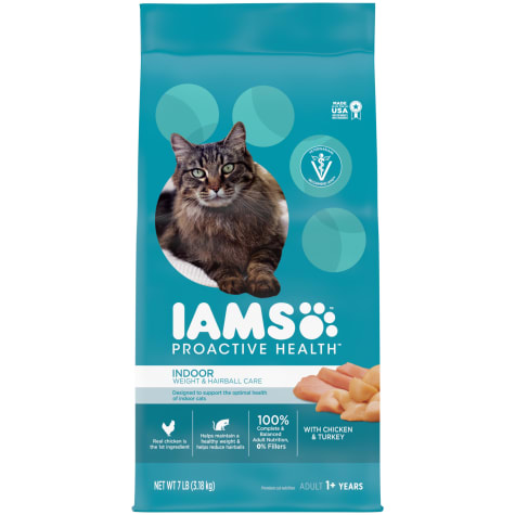 Iams Proactive Health Indoor Weight & Hairball Control With Chicken and Turkey Adult Dry Cat Food