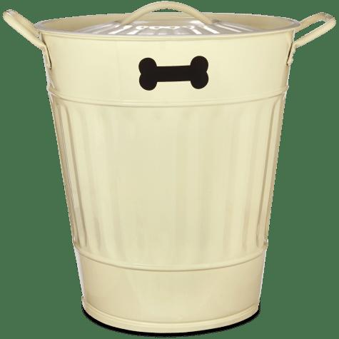 You & Me Pet Food Storage Bin in Cream