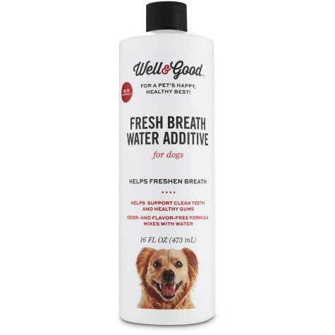 Well & Good Fresh Breath Water Additive for Dogs