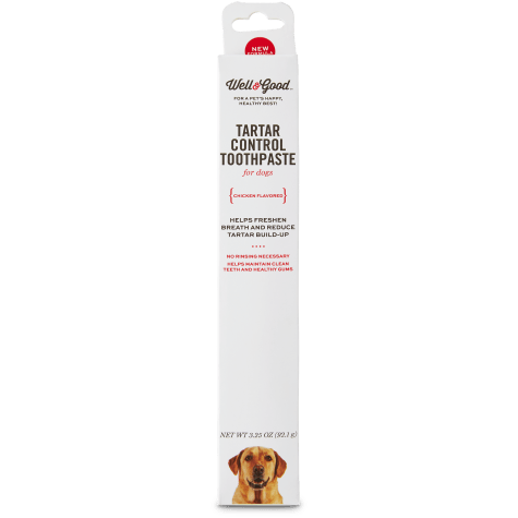 Well & Good Tartar Control Toothpaste for Dogs, Chicken Flavored
