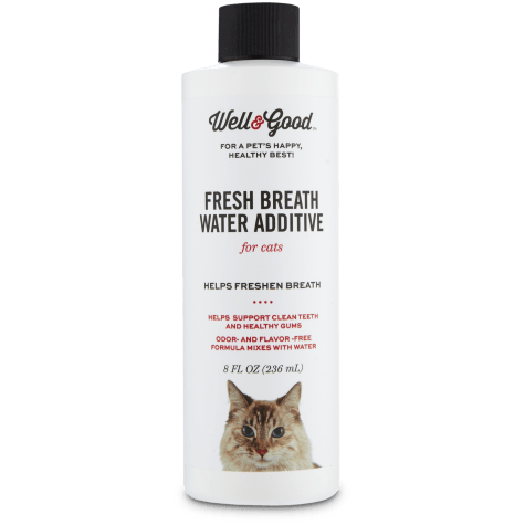 Well & Good Fresh Breath Water Additive for Cats
