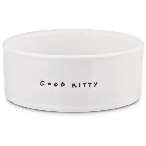 Harmony Good Kitty Ceramic Cat Bowl