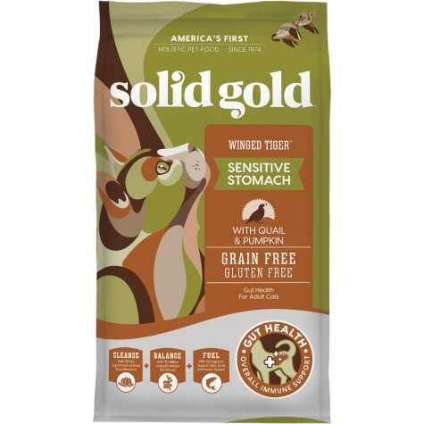 Solid Gold Winged Tiger Quail & Pumpkin Holistic Grain Free Dry Adult Cat Food With Superfoods