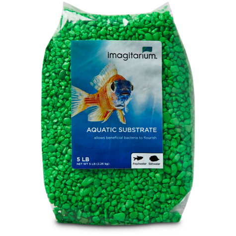 Imagitarium Neon Green Aquarium Gravel
