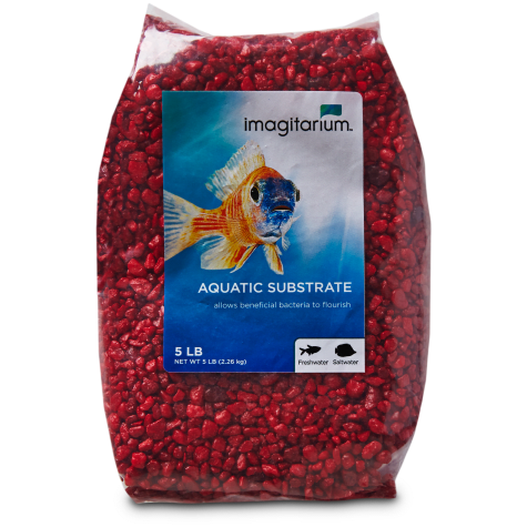 Imagitarium Strawberry Red Aquarium Gravel