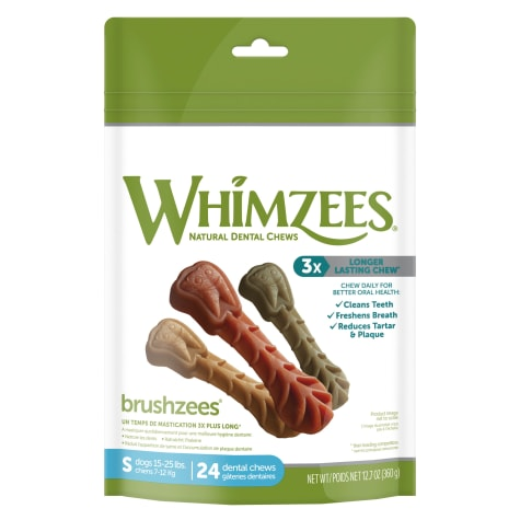 Whimzees Small Brushzees Dog Treats