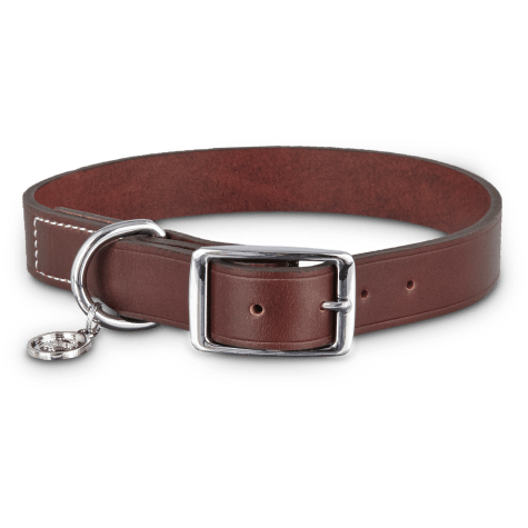 Bond & Co. Mahogany Leather Collar