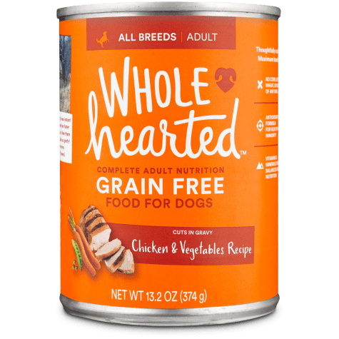 WholeHearted Grain Free Adult Chicken and Vegetable Recipe Wet Dog Food