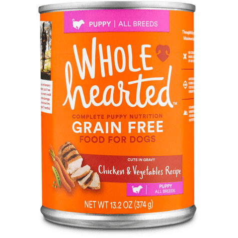WholeHearted Grain Free Puppy Chicken and Vegetable Recipe Wet Dog Food