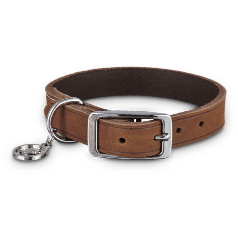 Bond & Co. Mahogany Leather Dog Collar