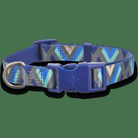 Good2Go Blue Chevron Dog Collar