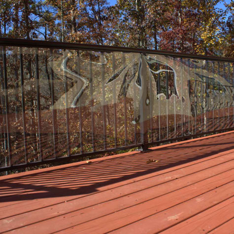 Cardinal Gates Clear Outdoor Deck Shield for Pet Safety