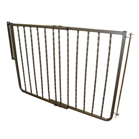 Cardinal Gates Wrought Iron Decor Gate, Bronze