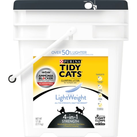 Purina Tidy Cats LightWeight 4-in-1 Strength Dust Free Clumping Multi Cat Litter