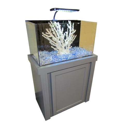 29 Gallon Grey Fusion Series Cabinet & Tank Combo