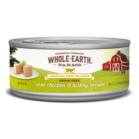 Whole Earth Farms Grain Free Real Chicken & Turkey Recipe Wet Cat Food