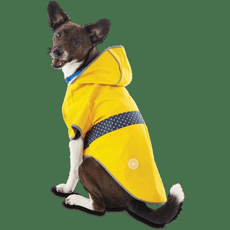 Good2Go Reversible Dog Raincoat in Yellow