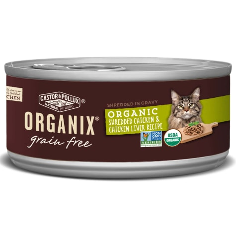 Castor & Pollux Organix Grain Free Organic Shredded Chicken & Chicken Liver Recipe Wet Cat Food
