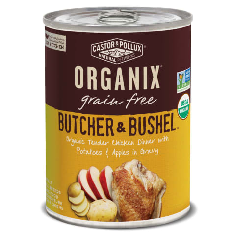 Castor & Pollux Organix Butcher & Bushel Organic Tender Chicken Dinner with Potatoes & Apples Wet Dog Food