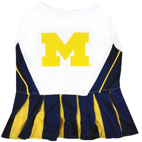 Pets First Michigan Wolverines Cheerleading Outfit
