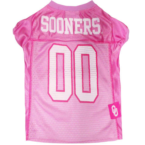 Pets First Oklahoma Sooners Pink Jersey