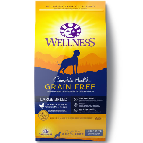 Wellness Complete Health Grain Free Large Breed Deboned Chicken & Chicken Meal Recipe Dry Dog